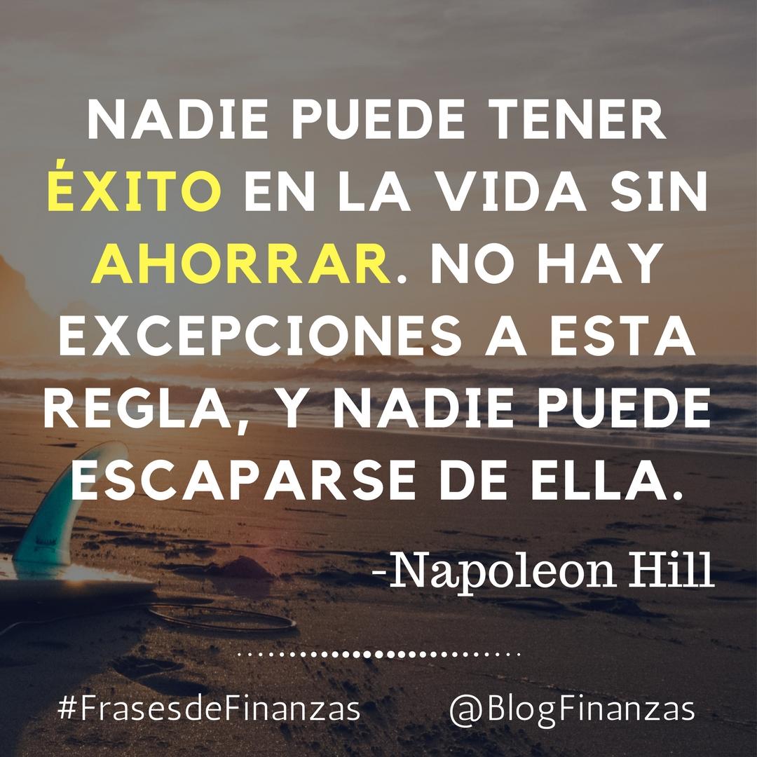 frases de finanzas - napoleon hill
